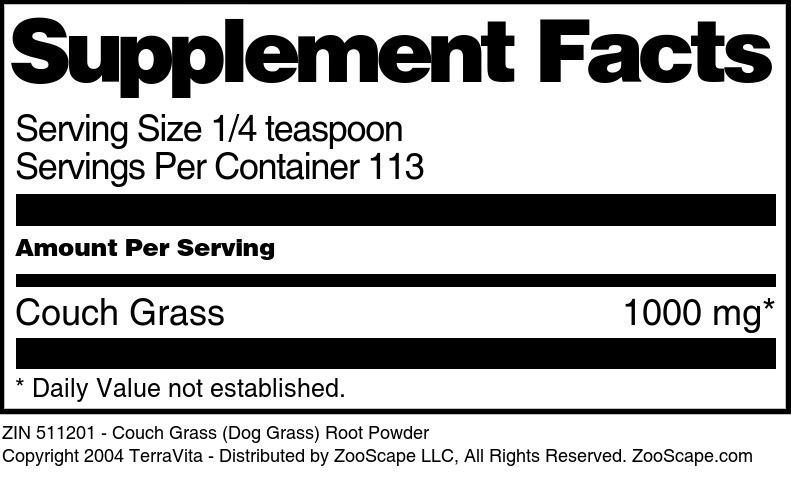 Couch Grass (Dog Grass) Root Powder