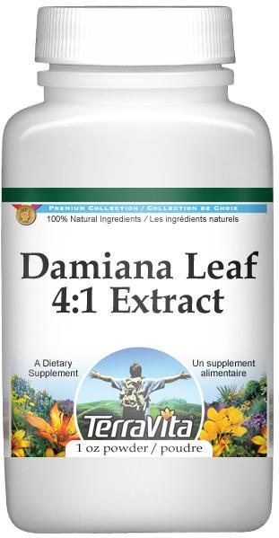 Extra Strength Damiana Leaf 4:1 Extract Powder