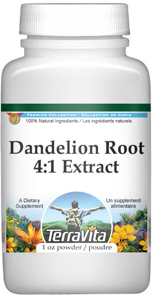Extra Strength Dandelion Root 4:1 Extract Powder