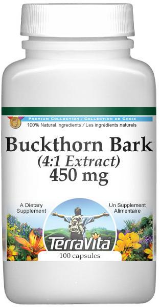 Extra Strength Buckthorn Bark 4:1 Extract - 450 mg