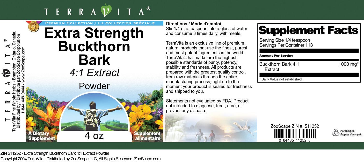 Extra Strength Buckthorn Bark 4:1 Extract Powder