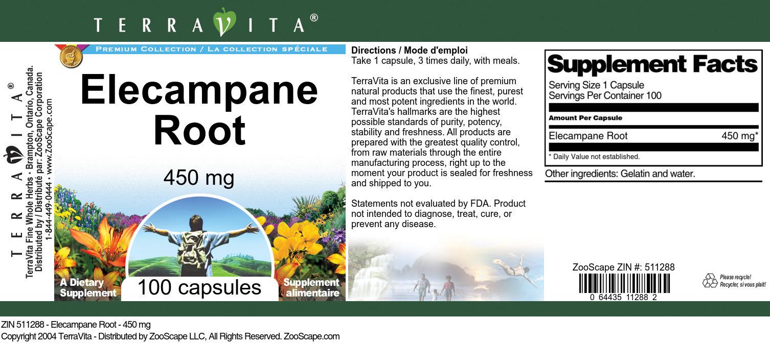 Elecampane Root - 450 mg