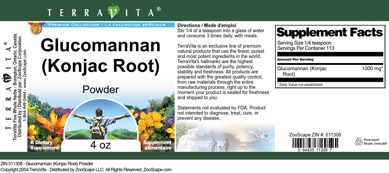 Glucomannan (Konjac Root) Powder