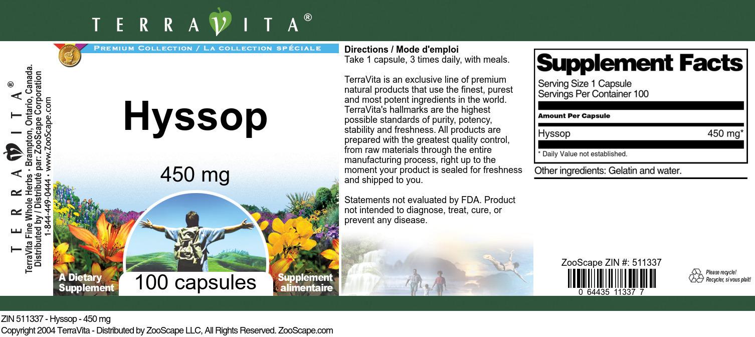 Hyssop - 450 mg