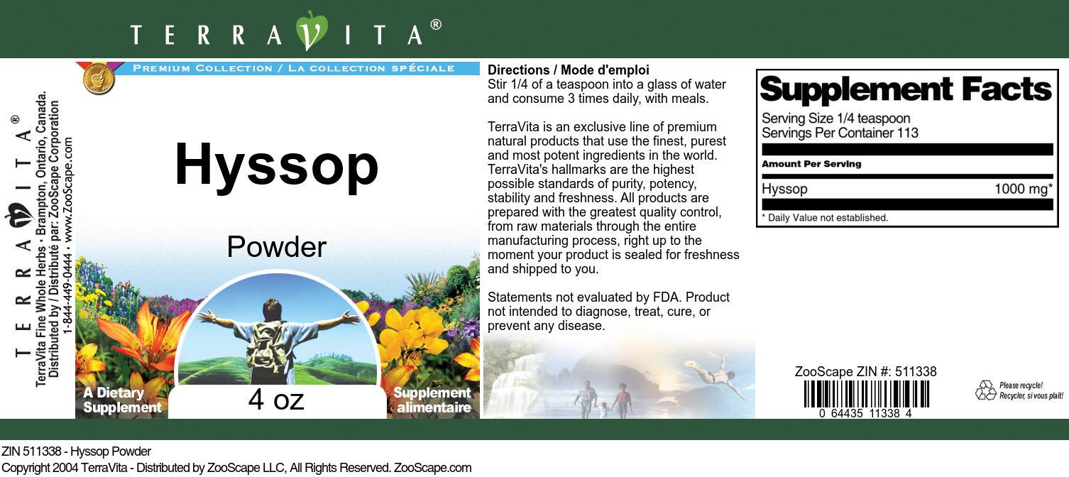 Hyssop Powder