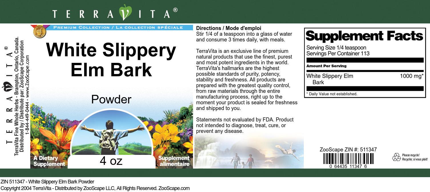 White Slippery Elm Bark Powder