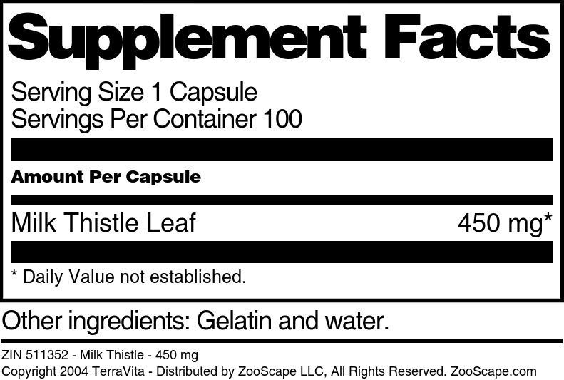Milk Thistle - 450 mg