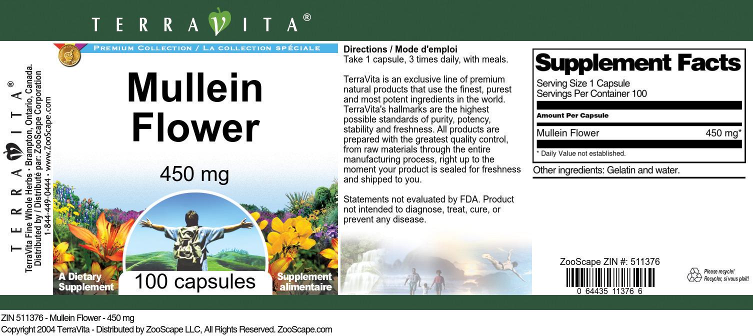 Mullein Flower - 450 mg