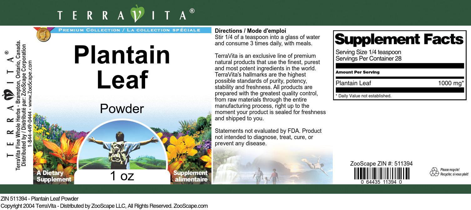 Plantain Leaf Powder