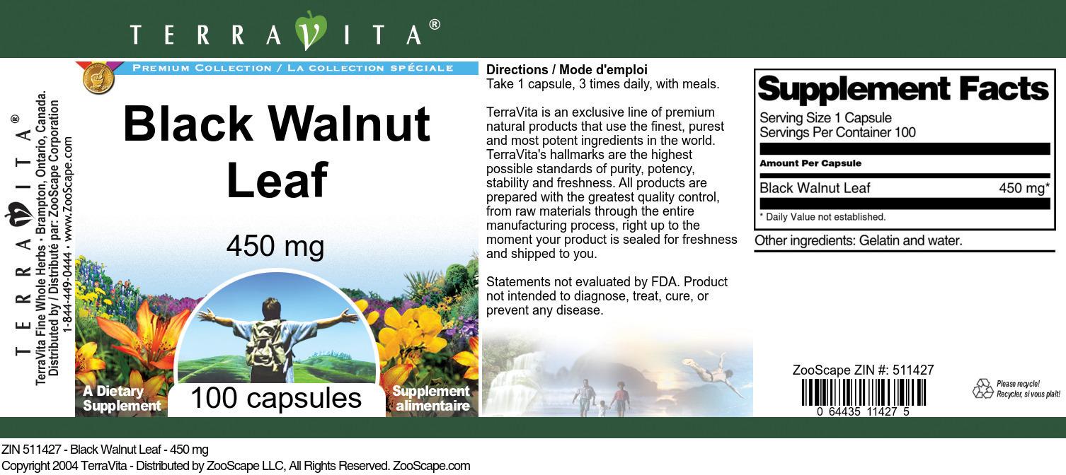 Black Walnut Leaf - 450 mg