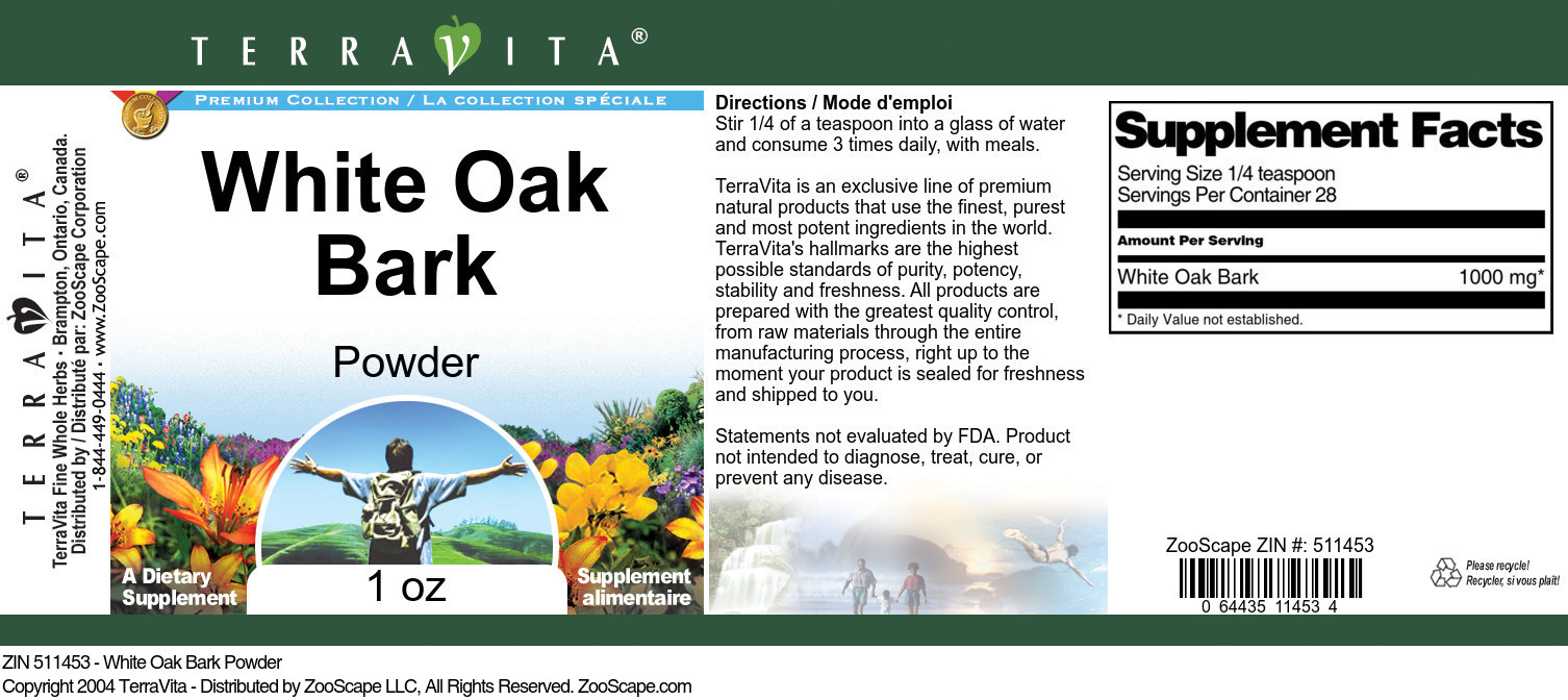 White Oak Bark Powder