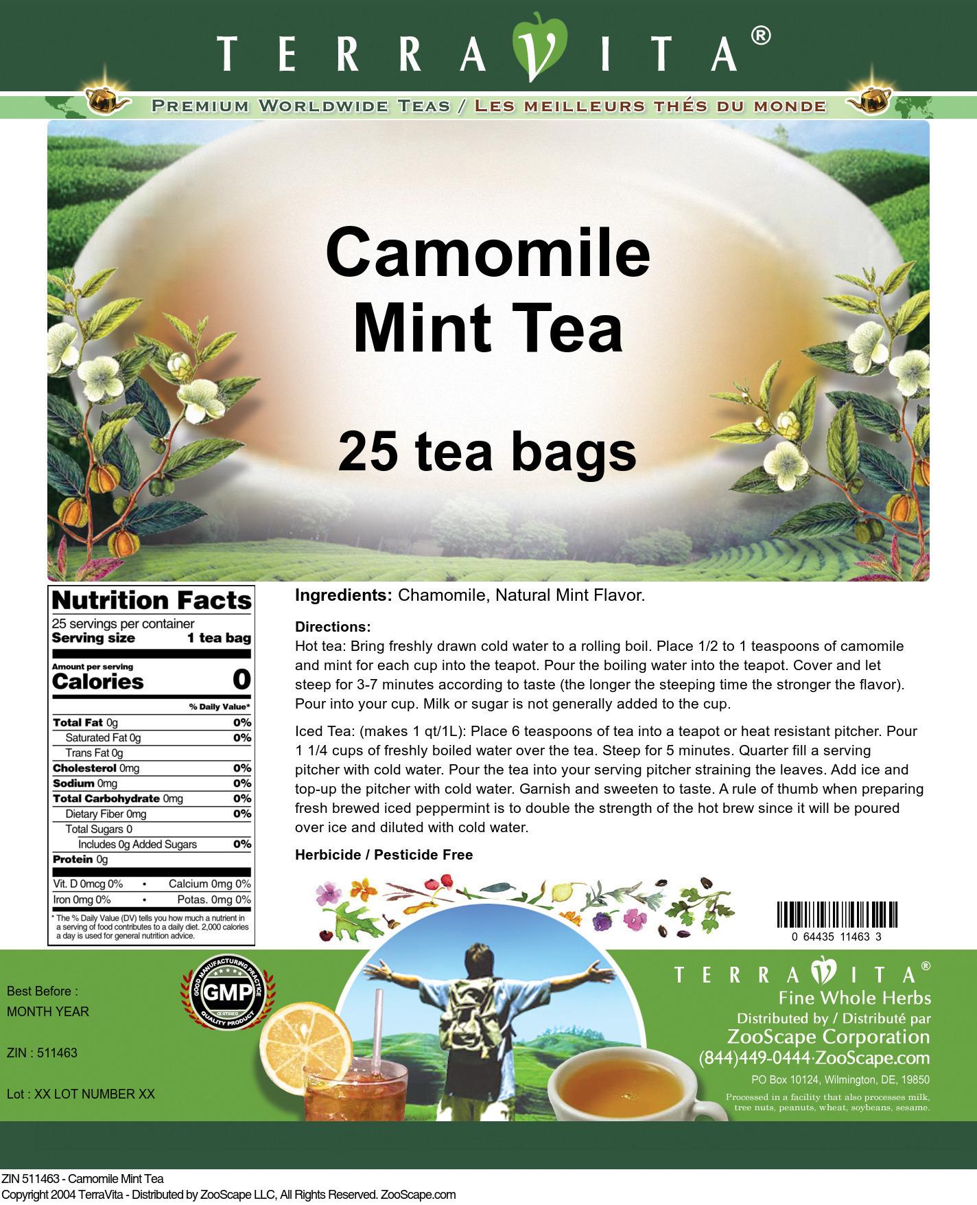 Camomile Mint Tea