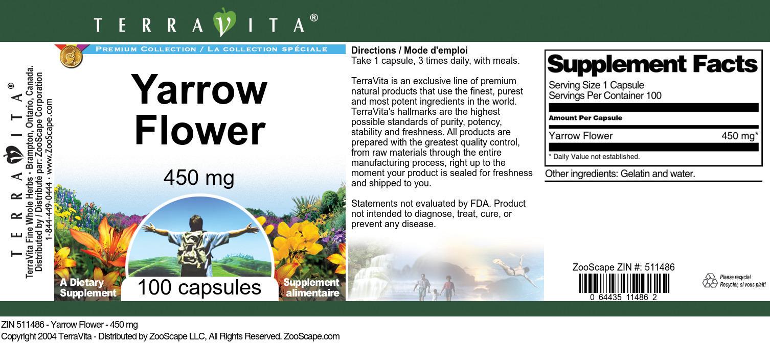 Yarrow Flower - 450 mg