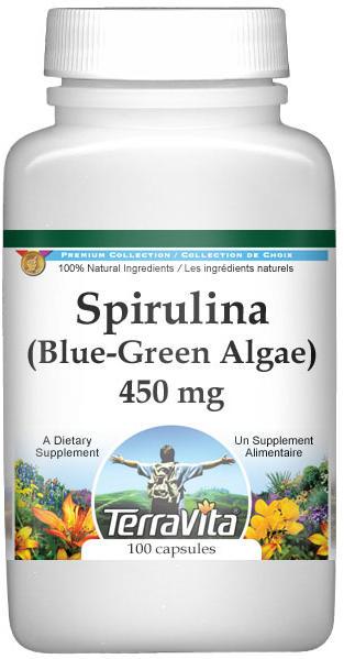 Spirulina (Blue-Green Algae) - 450 mg