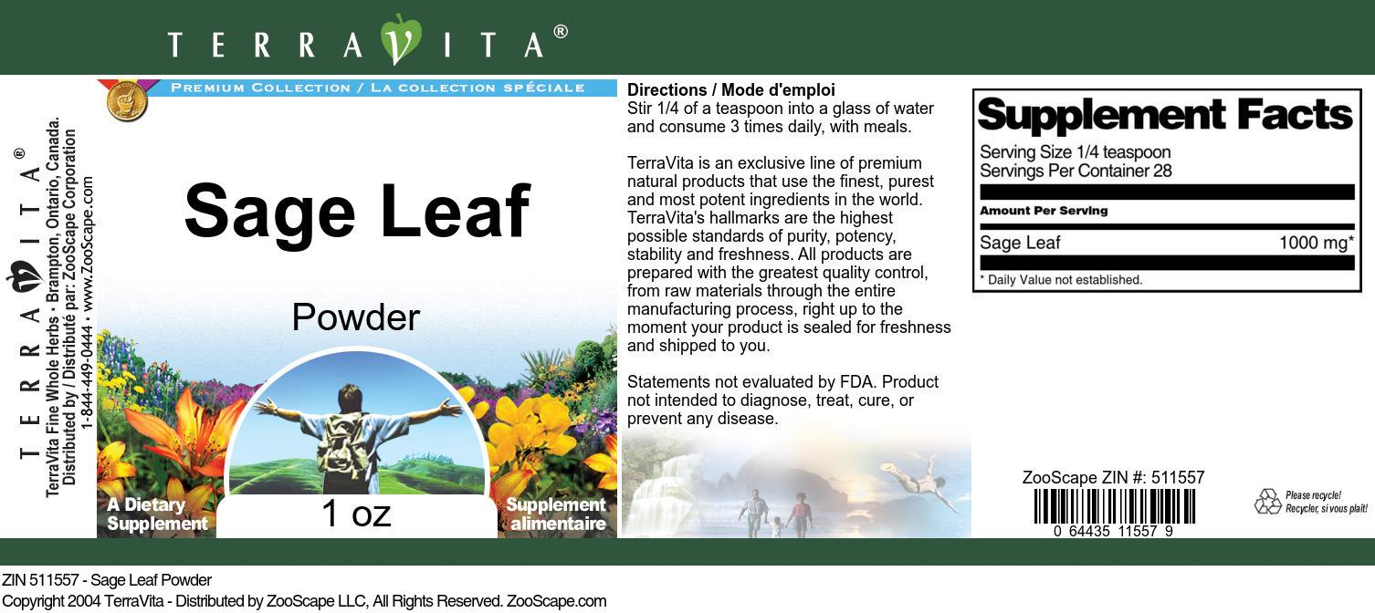 Sage Leaf Powder