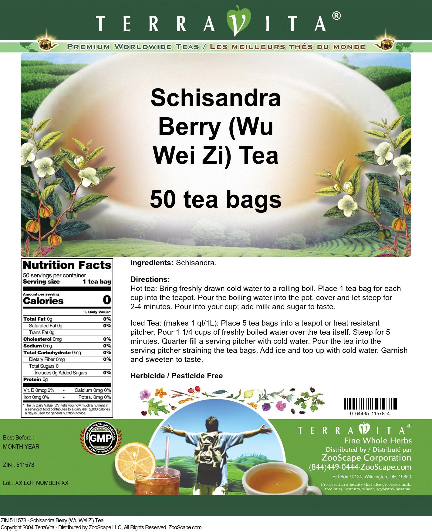 Schisandra Berry (Wu Wei Zi) Tea