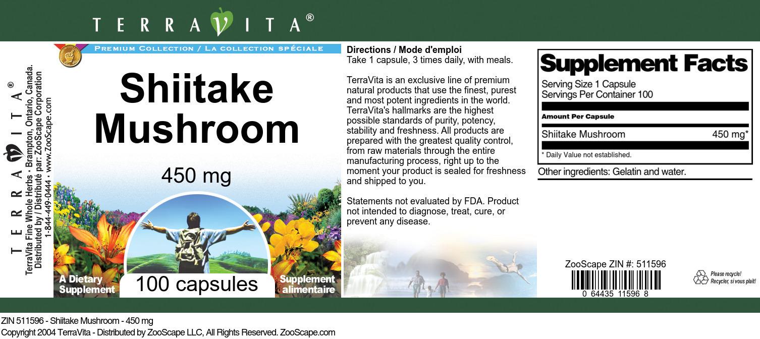 Shiitake Mushroom - 450 mg