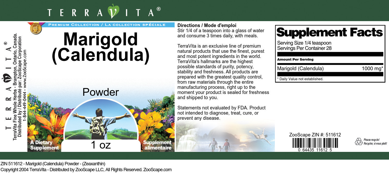 Marigold (Calendula) Powder - (Zeaxanthin)