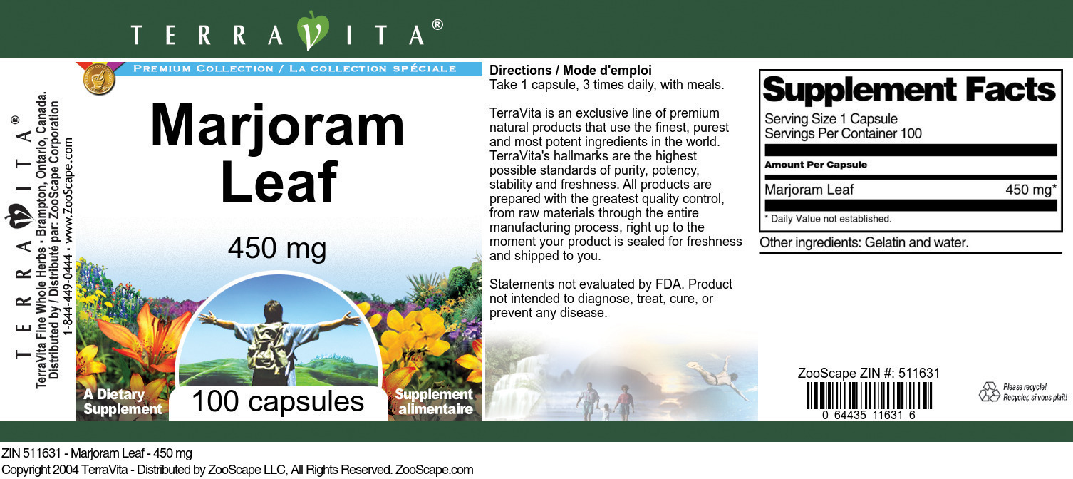 Marjoram Leaf - 450 mg