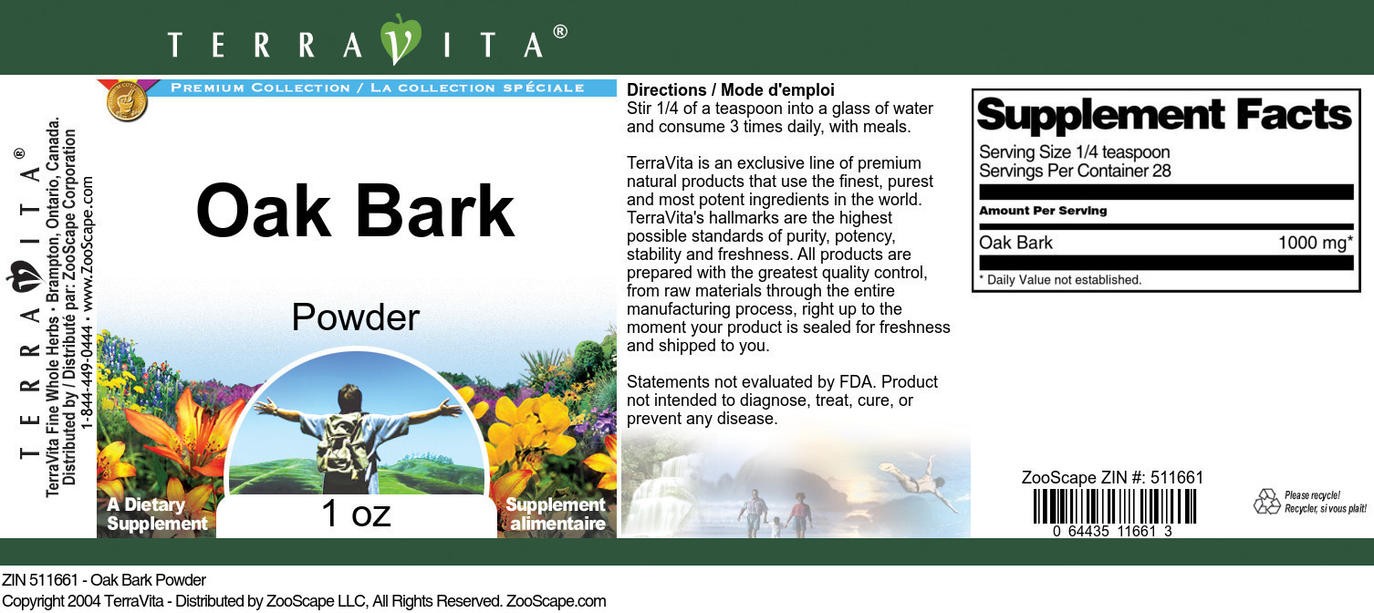 Oak Bark Powder