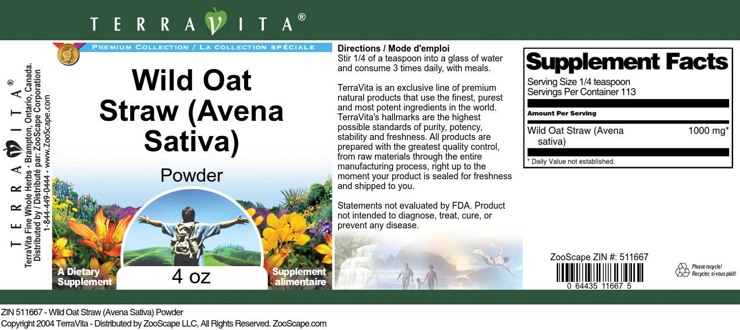 Wild Oat Straw (Avena Sativa) Powder