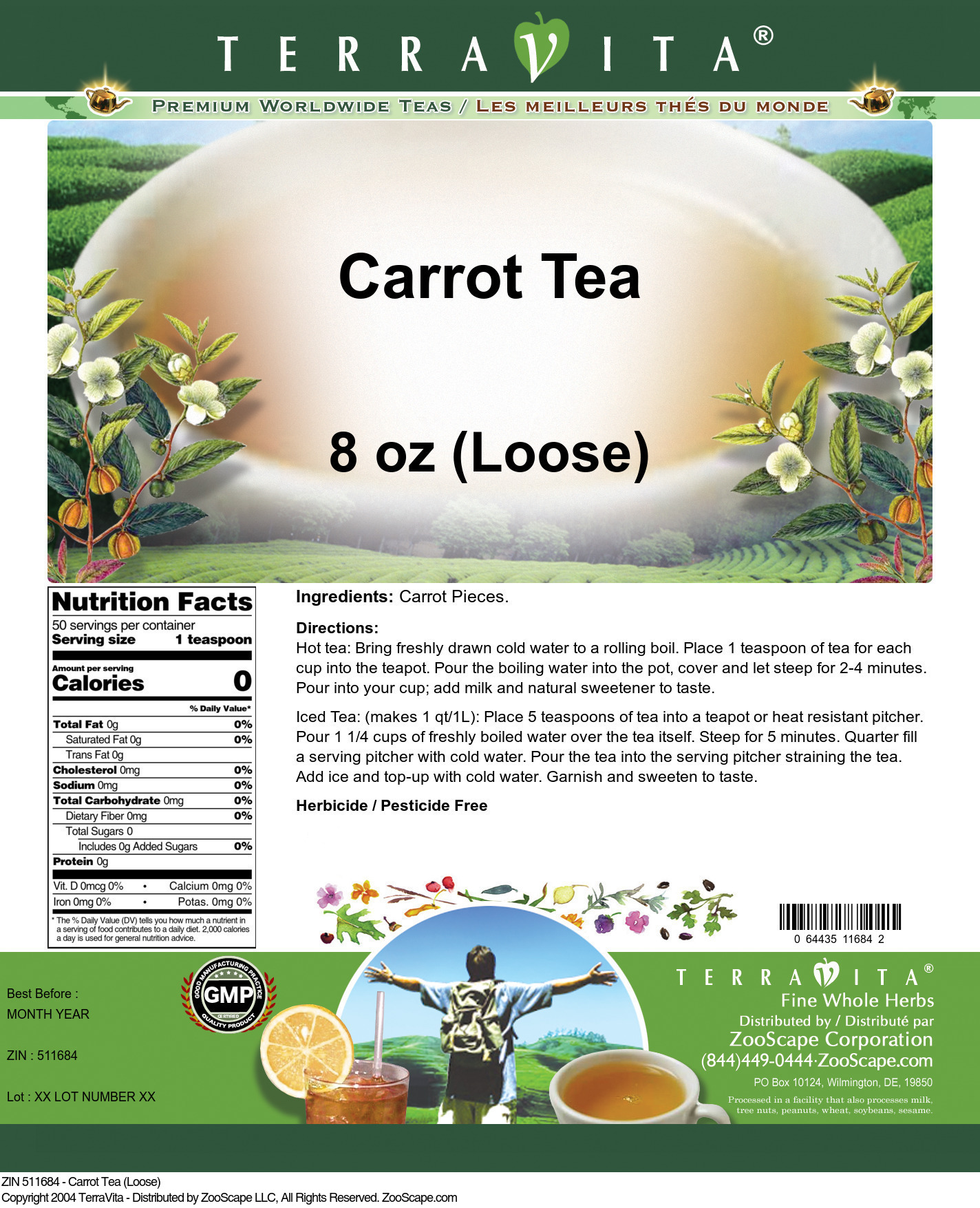 Carrot Tea (Loose)