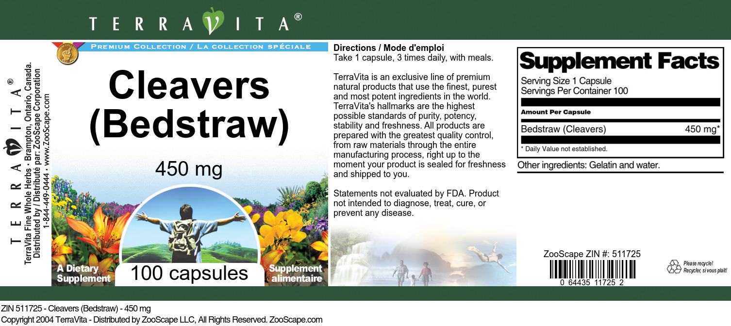 Cleavers (Bedstraw) - 450 mg