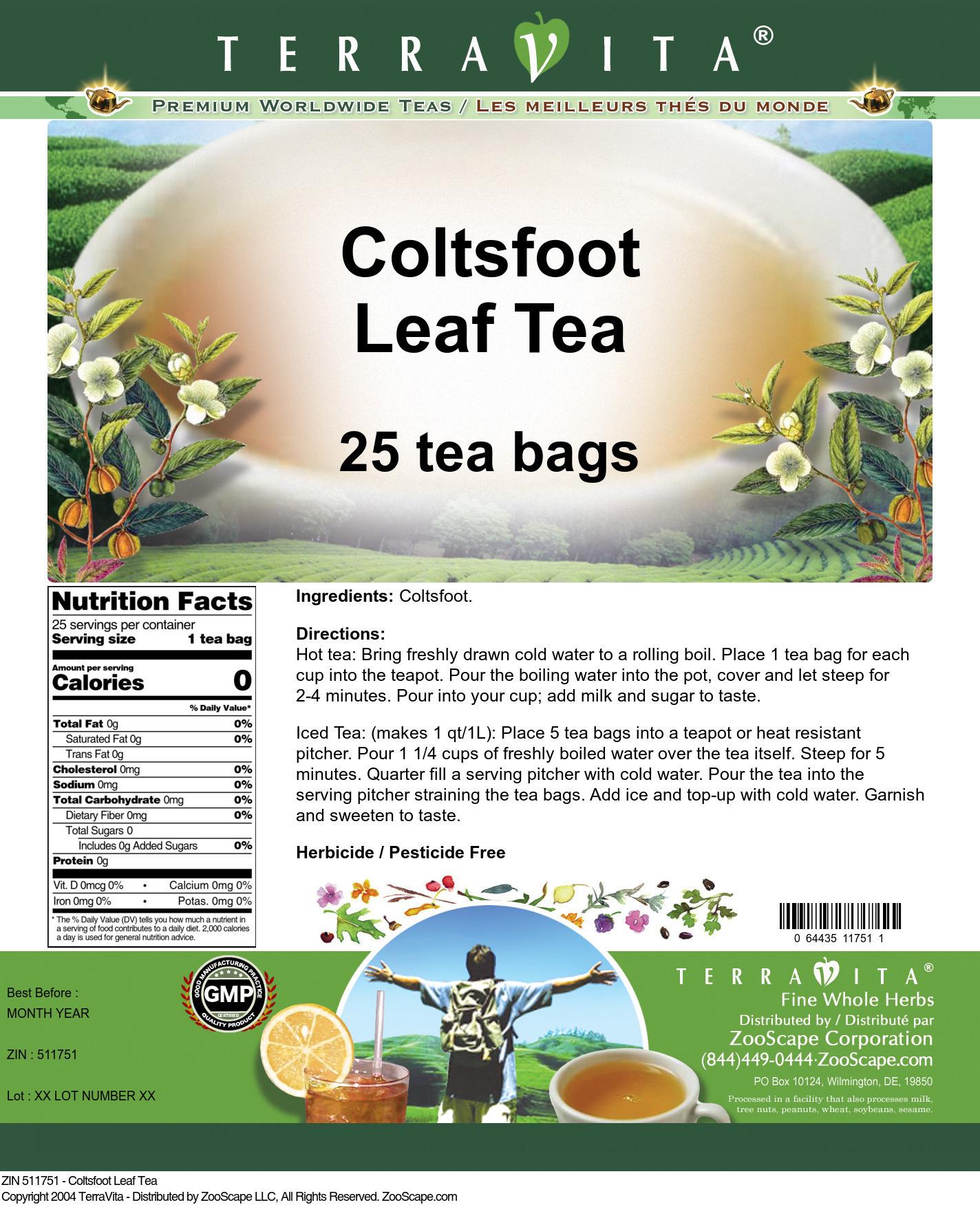 Coltsfoot Leaf Tea