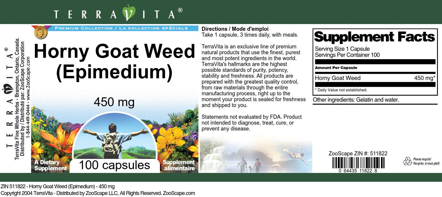 Horny Goat Weed (Epimedium) - 450 mg