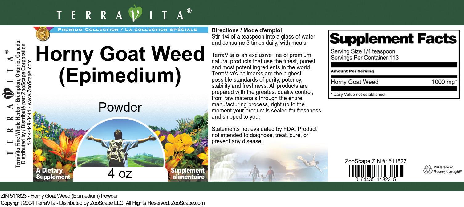 Horny Goat Weed (Epimedium) Powder