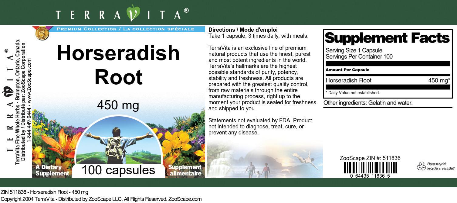 Horseradish Root - 450 mg
