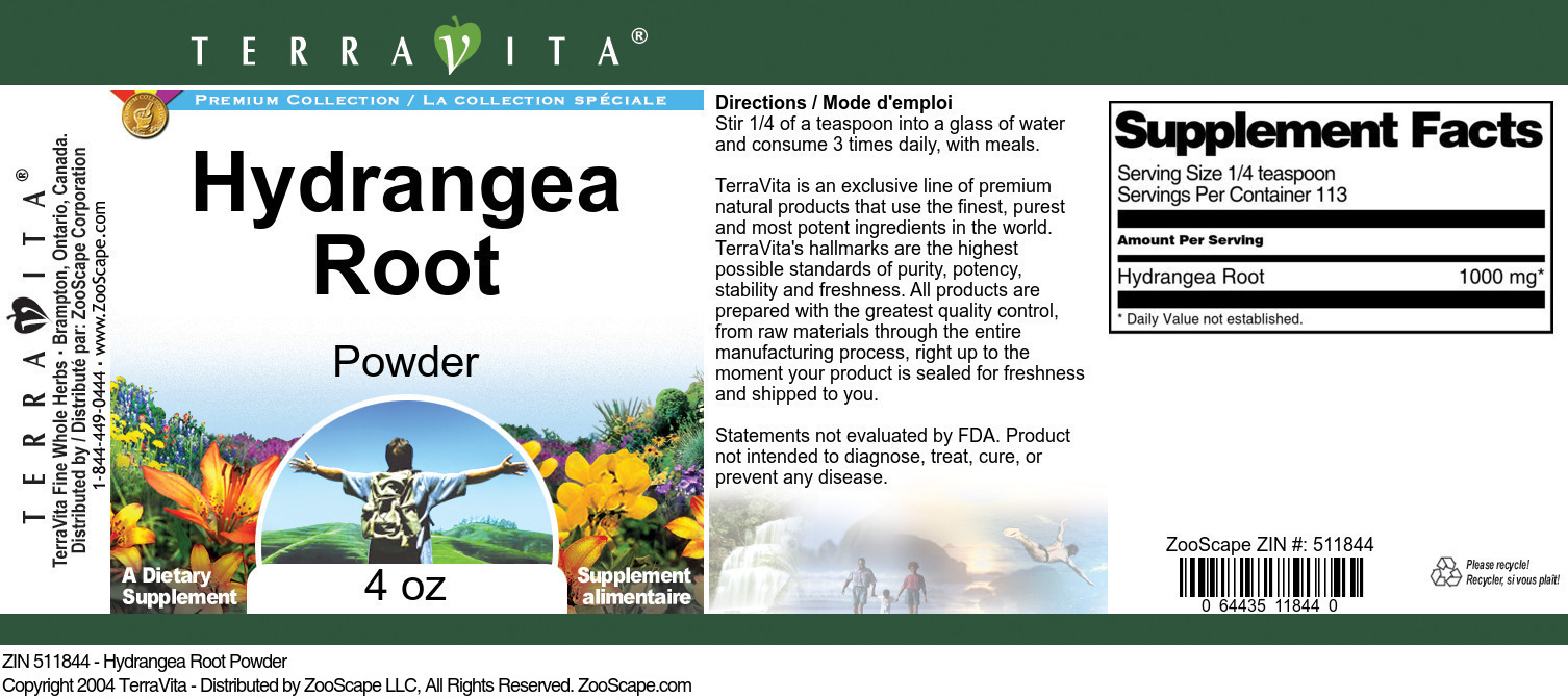 Hydrangea Root Powder