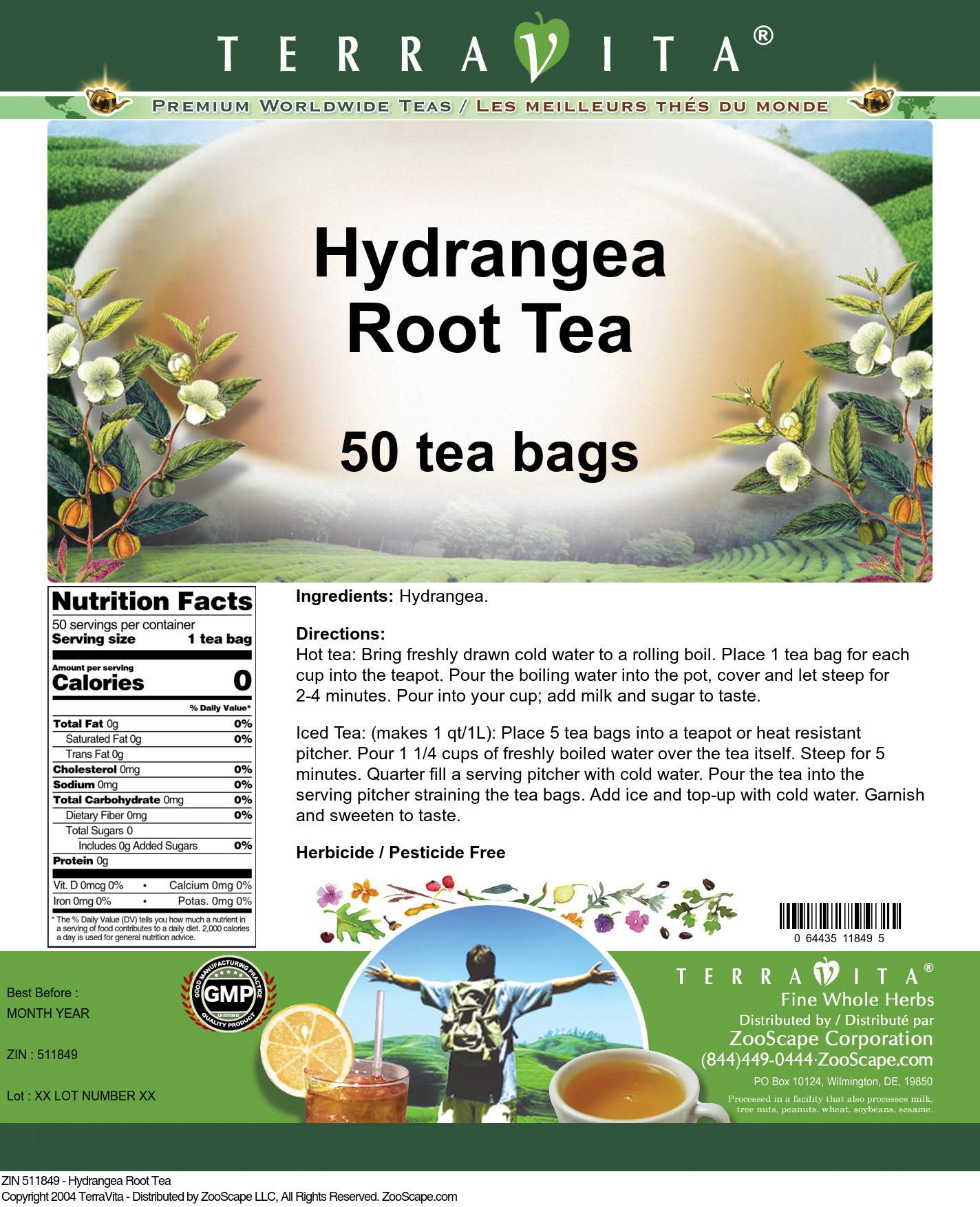 Hydrangea Root Tea