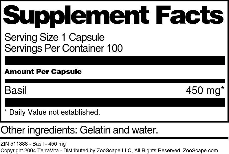 Basil - 450 mg