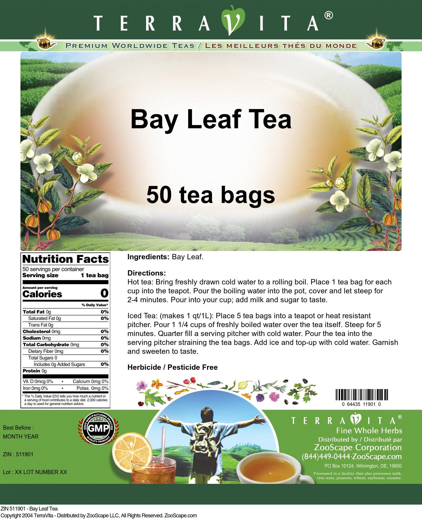 Bay Leaf Tea - Label