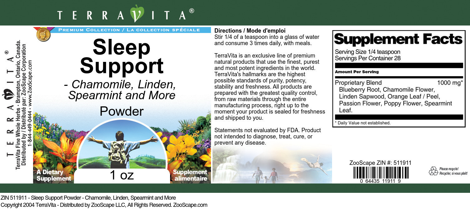 Sleep Support Powder - Chamomile, Linden, Spearmint and More