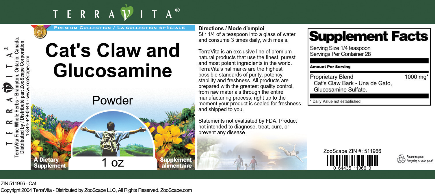 Cat's Claw and Glucosamine Powder