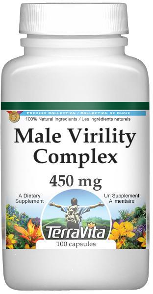 Male Virility Complex - Muira Puama, Schizandra, Siberian Ginseng, Ginkgo Biloba - 450 mg