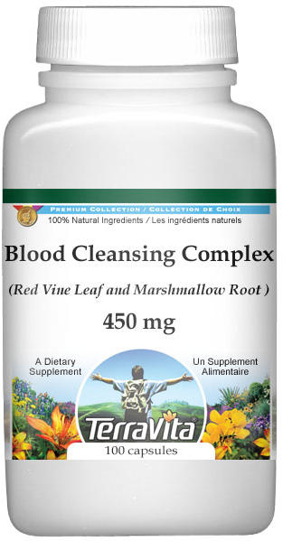Blood Cleansing Complex - Red Vine Leaf and Marshmallow Root - 450 mg