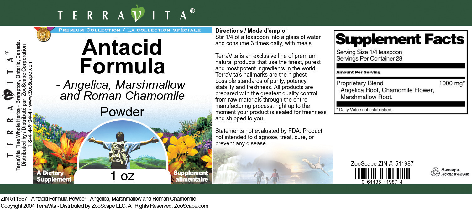 Antacid Formula Powder - Angelica, Marshmallow and Roman Chamomile