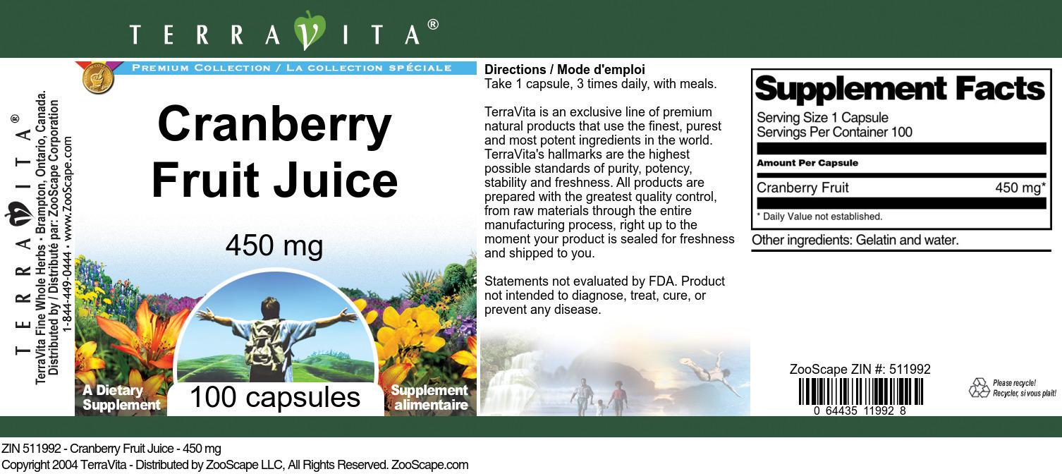 Cranberry Fruit Juice