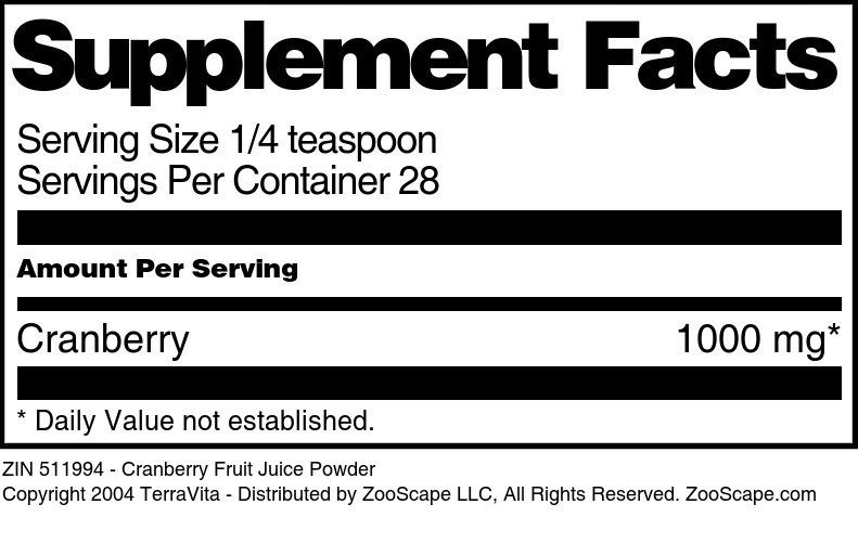 Cranberry Fruit Juice Powder