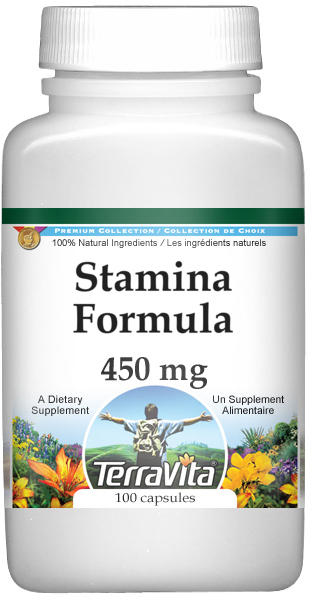 Stamina Formula - Damiana, Eleuthero and Witch Hazel - 450 mg