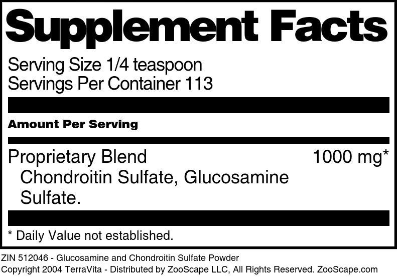 Glucosamine and Chondroitin Sulfate