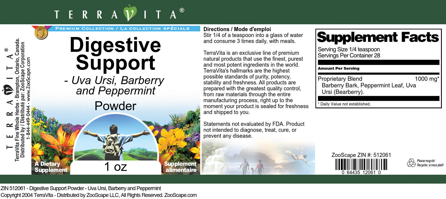 Digestive Support Powder - Uva Ursi, Barberry and Peppermint