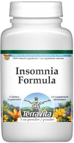Insomnia Formula Powder - Passion Flower, Valerian and Lemon Balm
