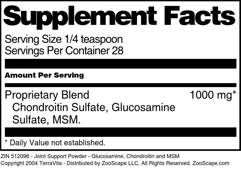 Joint Support Powder - Glucosamine, Chondroitin and MSM