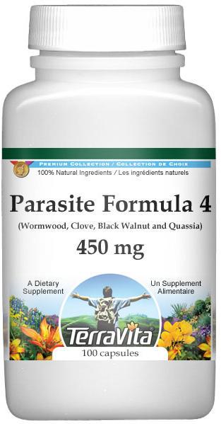Parasite Formula 4 - Wormwood, Clove, Black Walnut and Quassia - 450 mg