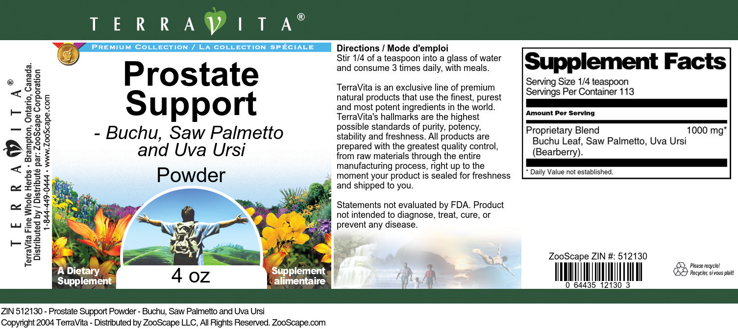 Prostate Support Powder - Buchu, Saw Palmetto and Uva Ursi