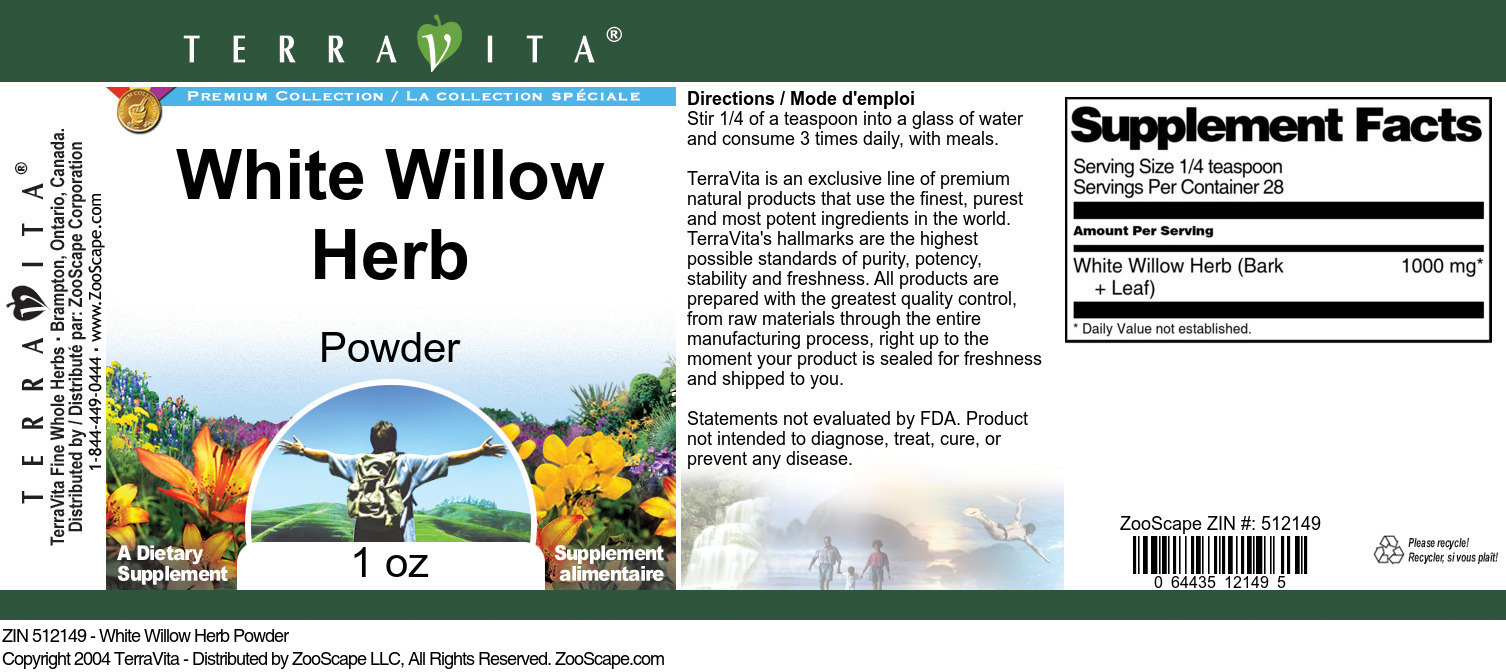 White Willow Herb Powder